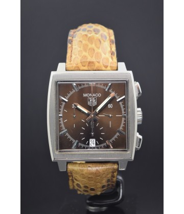"Tag Heuer  Monaco chrono ""Brown"""