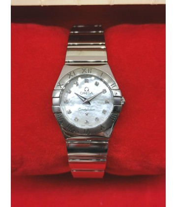 "Omega ""Cindy Crawford"" Constellation MOP Diamond Dial"