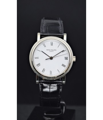 Patek Philippe Calatrava white gold Ref: 3802/200, watch only.