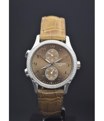 Patek Philppe Travel Time Ladies White Gold Diamond
